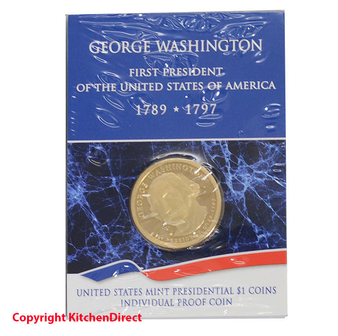 2007 George Washington US Mint $1 Individual Dollar Proof Coin XF1