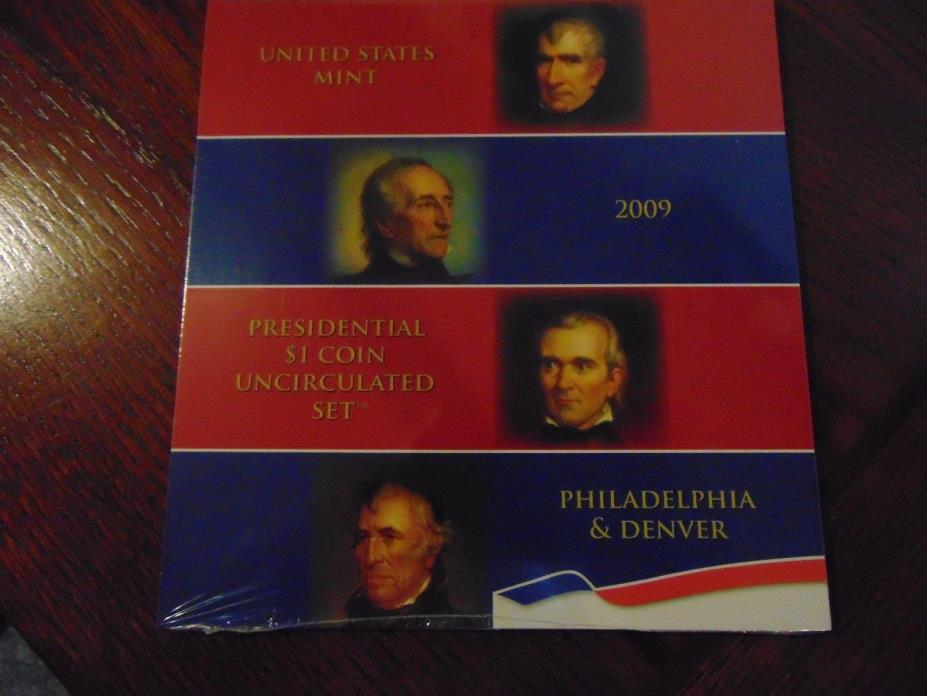 Unopened 2009 Presidential $1 Uncirculated Coin Set   8 Coins  P & D Mints