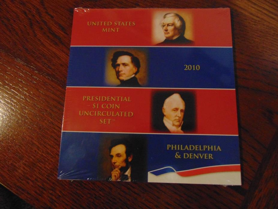 Unopened 2010 Presidential $1 Uncirculated Coin Set   8 Coins   P & D Mints