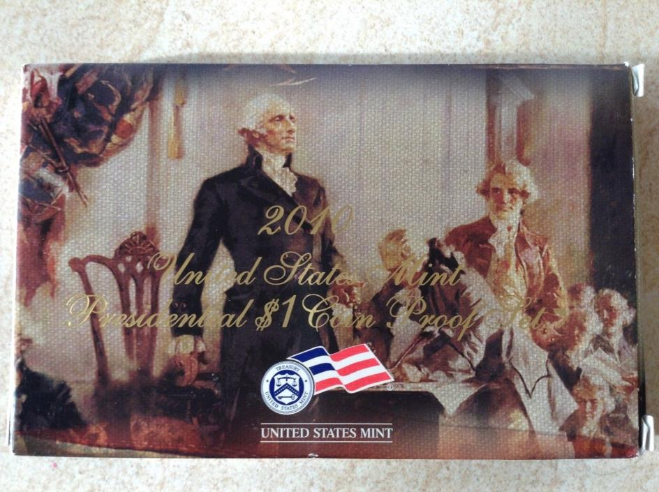2010 Proof Presidential Dollar Set with box and coa
