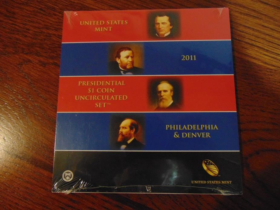 Unopened 2011 Presidential $1 Uncirculated Coin Set  8 Coins  P & D Mints