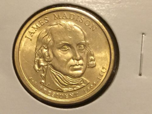 2007 D James Madison Presidential Dollar Uncirculated US Mint Coin