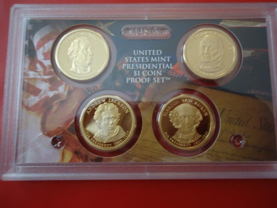 2008 S U. S. MINT UNCIRCULATED  PRESIDENTIAL DOLLAR COIN PROOF SET