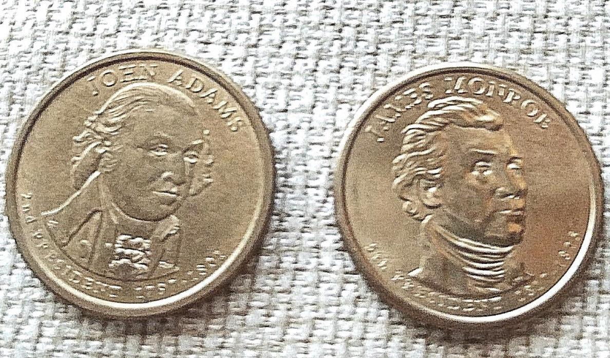 James Monroe & John Adams dollar coins