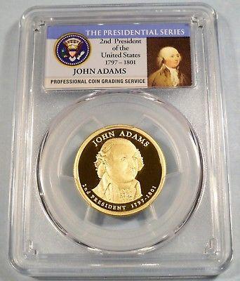 2007-S PCGS PR70DCAM JOHN ADAMS PRESIDENTIAL PROOF DOLLAR DEEP CAMEO $1 PR 70 DC