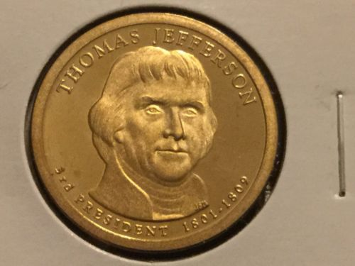 2007 S Thomas Jefferson Presidential Dollar Gem Deep Cameo