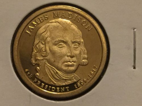 2007 S James Madison Presidential Dollar Gem Deep Cameo