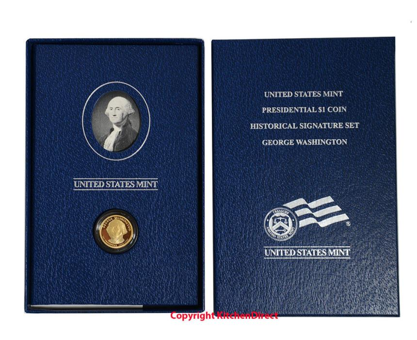 2007 George Washington Presidential Dollar US Mint Historical Signature Set XJ1