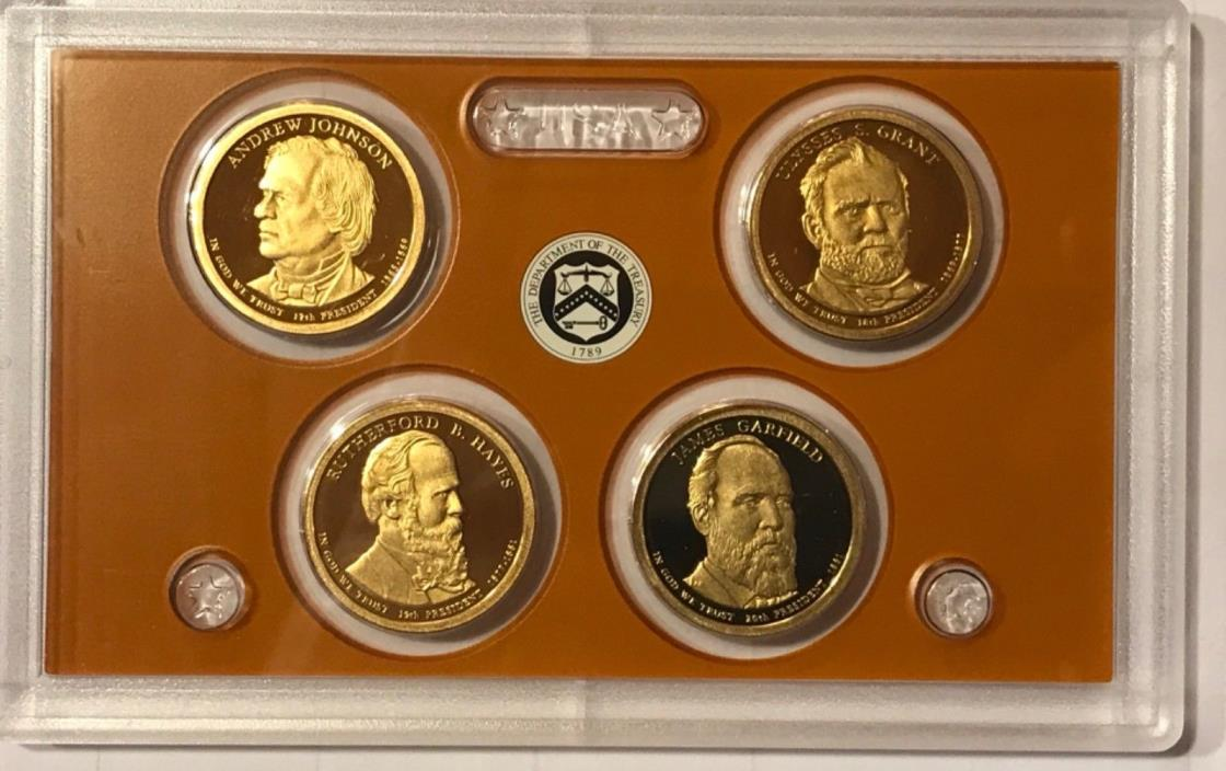 2011 S Proof Presidential Dollars: Set of 4 Gem Proof Coins : No Box or C.O.A.
