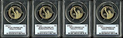 2011-S $1 Presidential Dollars PR69DCAM PCGS Set of 4 19739623