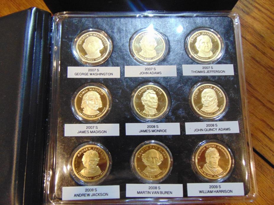 Complete Collection of Gem Proof Presidential Dollars 2007-2016