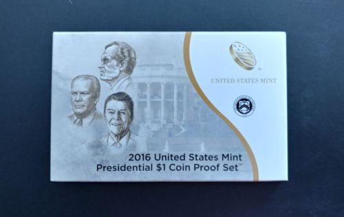 2016 S Proof Presidential Dollar Coin Set with Box and COA