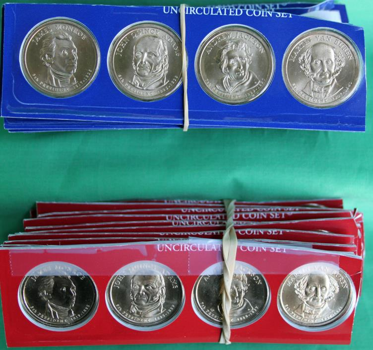 10 Sets 2008 Presidential Dollar BU Coins P & D from US Mint Set Blister Pack