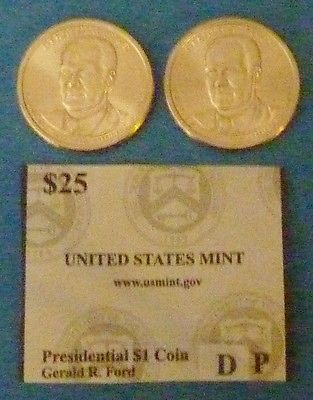 2016 D & P Gerald R Ford US Presidential Coin Set UNCIRCULATED