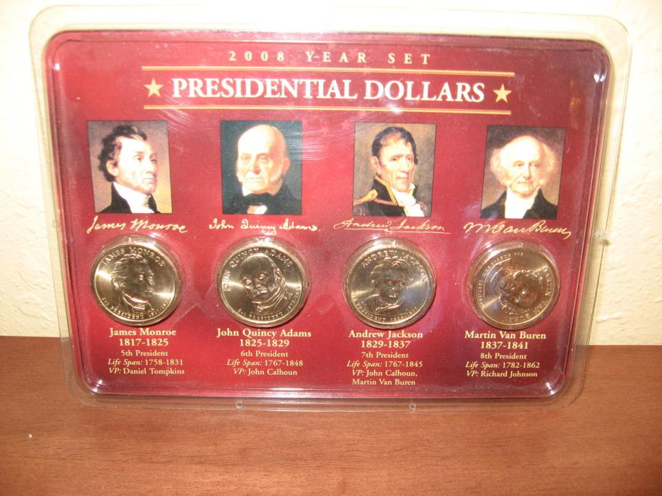 2008 Year Set Presidential Dollars