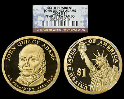 2008-S NGC PF69 Ultra Cameo Presidential Dollar *** John Quincy Adams ***