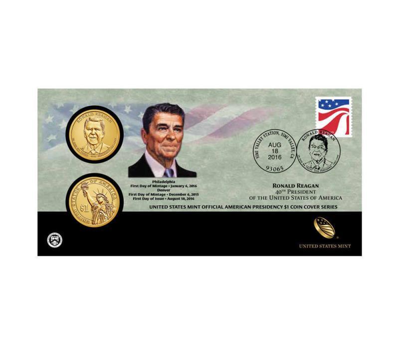 Ronald Reagan 2016 One Dollar Coin Cover FC16