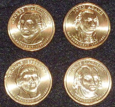 2007 D Presidential Dollar Coin Set - 4 Coins  UNCIRCULATED Free Shipping