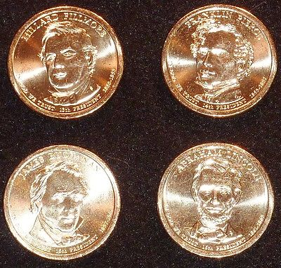 2010 D Presidential Dollar Coin Set - 4 Coins  UNCIRCULATED Free Shipping