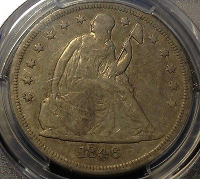 1846-O Lib. Seated $1 PCGS VF20 Beauty, Price Reduced, Scratch-Free Holder CHN!