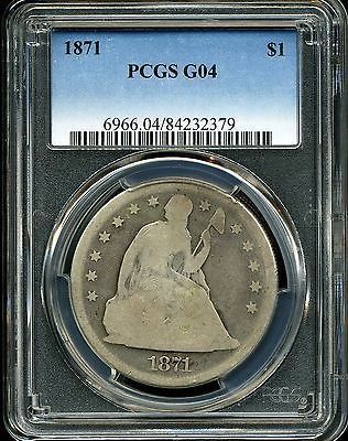 1871 $1 Seated Liberty Silver Dollar G04 PCGS 84232379
