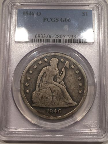 1846-O Seated Liberty Dollar PCGS G06
