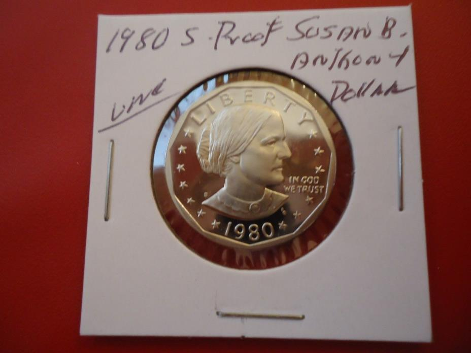 1980 S PROOF  SUSAN B. ANTHONY UNC. DOLLAR COIN