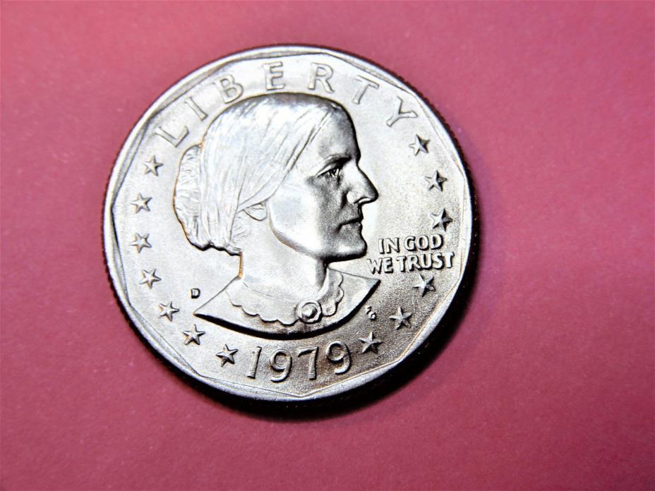 1979 D SUSAN B. ANTHONY  U.S. ONE DOLLAR COIN    O.B.W.           #S645