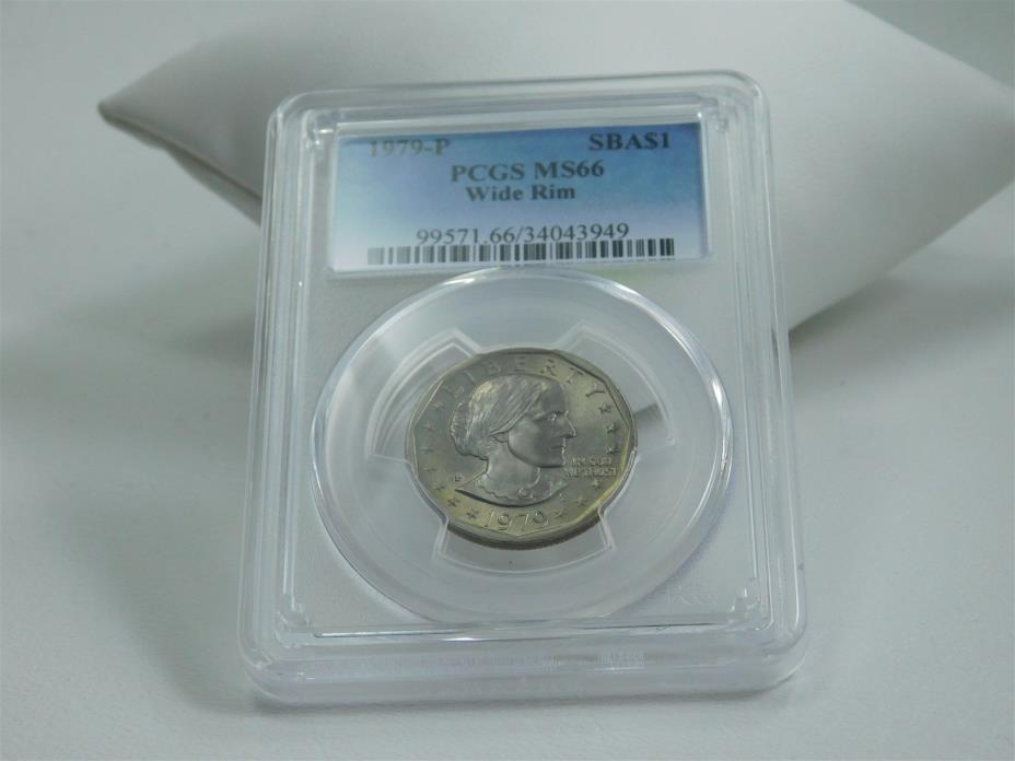 1979-P Susan B Anthony Dollar SBA$1 PCGS Certified MS66 Wide Rim MC0546
