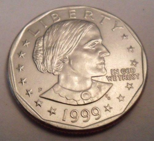1999-P SBA$1 Susan B. Anthony Dollar