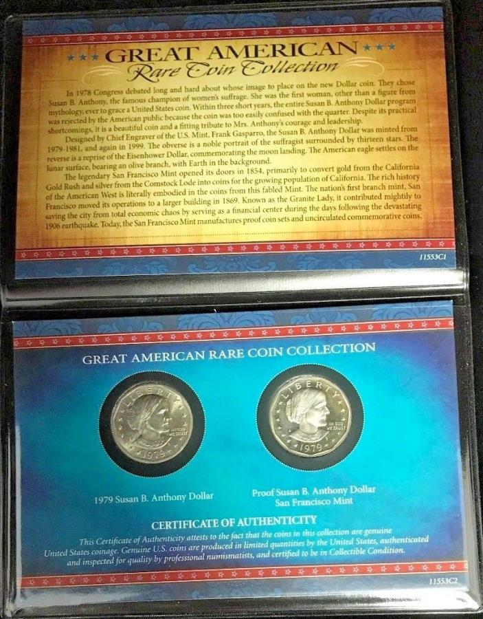 1979 Great American Rare Coin Collection Susan B. Anthony Dollars