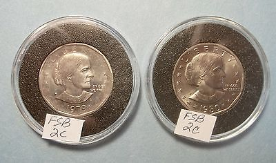 2- Susan B. Anthony Dollars Lot FSB2c