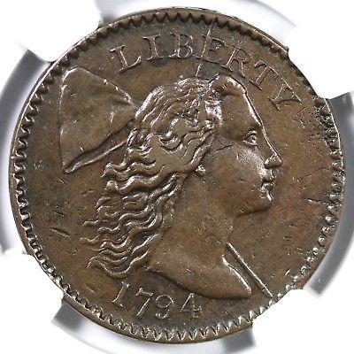 1794 S-49 R-2 NGC XF 40 Liberty Cap Large Cent Coin 1c Exl Luer
