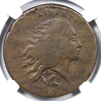 1793 NGC VG 8 Plain Edge Wreath Large Cent Coin 1c