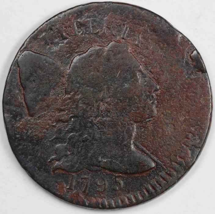 1795 1c Off Center Liberty Cap Large Cent UNSLABBED