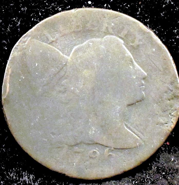 1796 Fair Details (damage) Liberty Cap Large Cent - lg128