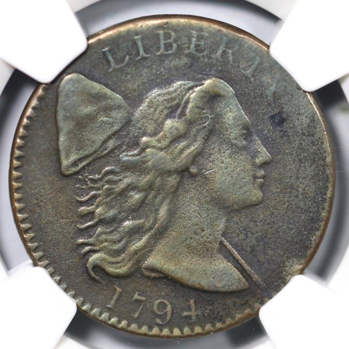 1794 S-32 NGC XF Details Liberty Cap Large Cent Coin 1c