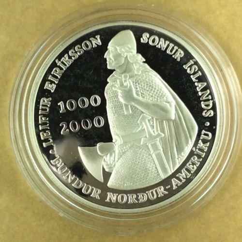 2000 Iceland - 1000 Kronur - Leif Ericsson Millennium - Capsule Only