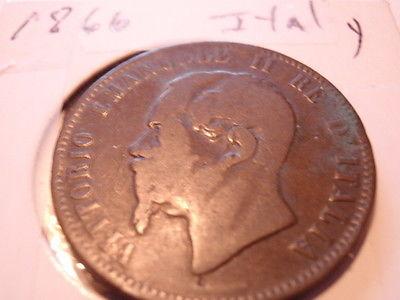 Italy, 1866-N 10 Centesimi, Very Good