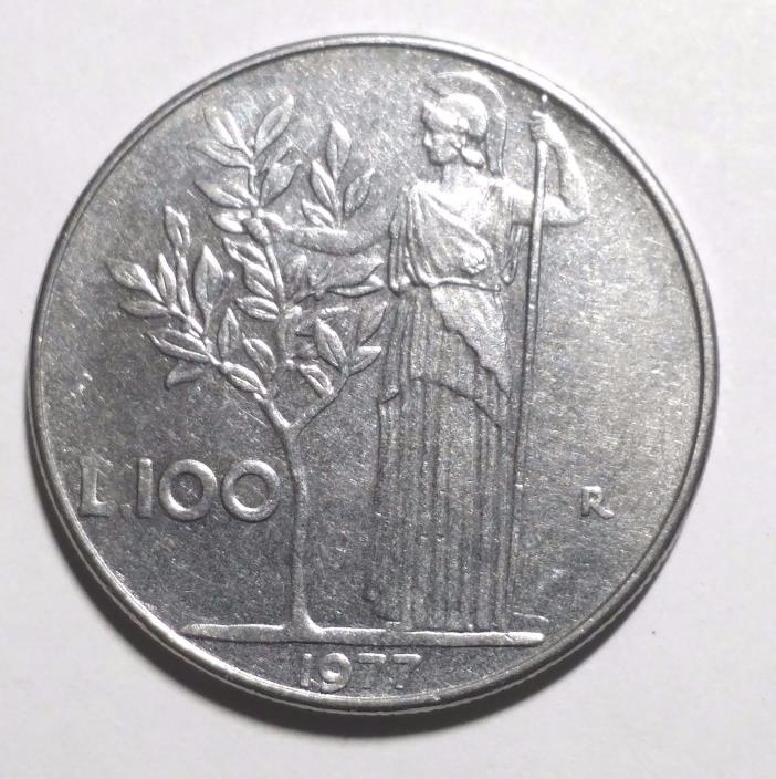 1977 100 lire Italy Coin