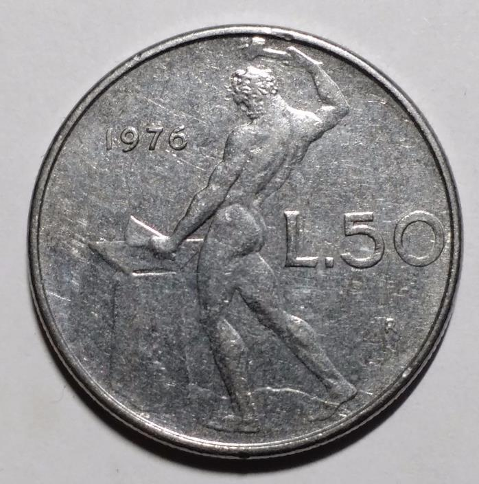 1976 50 Lire Italy Coin