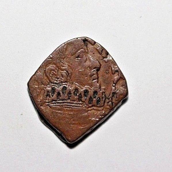 Italian States Milan Philip IV of Spain 1621-65 AD AE Quattrino Cr 27 N&V 393
