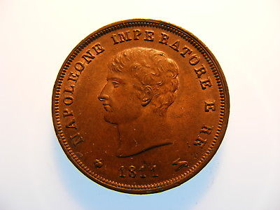 1811 Kingdom of Napoleon Italian States 3 Centesimi High Grade 40% Mint Red