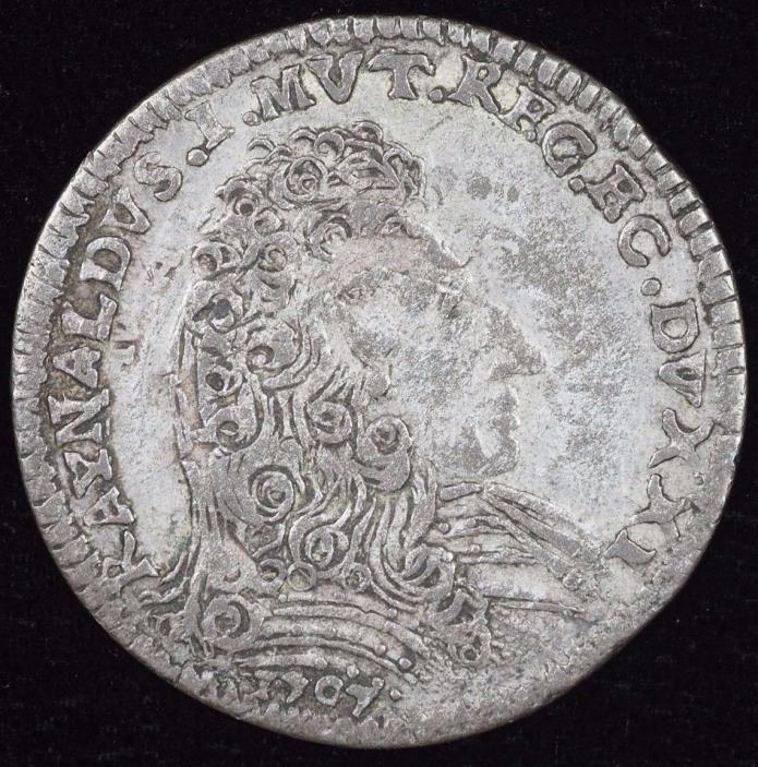 1707 Italian State Modena 1/2 Liva Italy