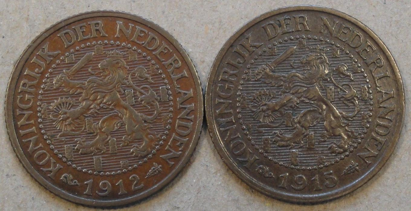 Netherlands 2+1/2 Cents 1912 + 15 Better Grade Coins As Pictured