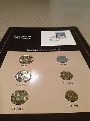 Coins of All Nations- Republic of Cyprus NEW from the FRANKLIN MINT Uncirculated