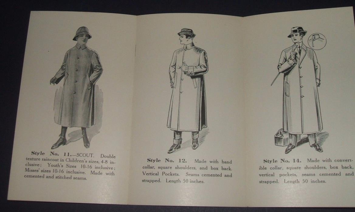 Circa 1900 Original Illustrated Style Book Raincoats The LeGarb Co. Boston, MA