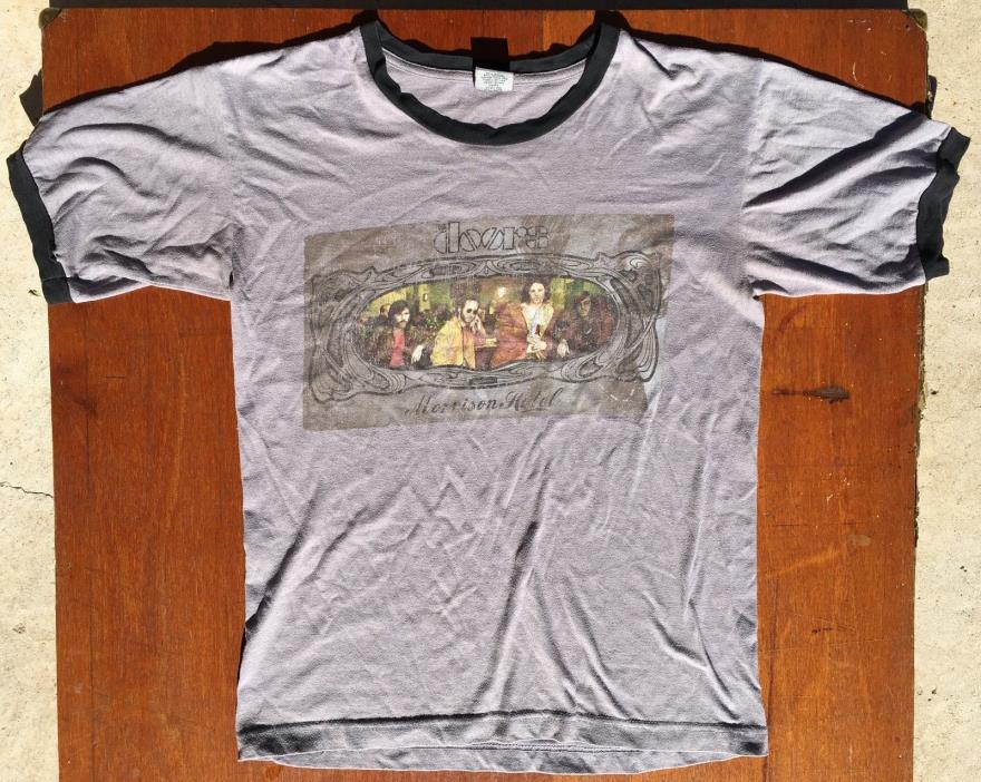 Vintage The Doors Morrison Hotel T Shirt Size S Made In USA Alstyle Apparel 70's