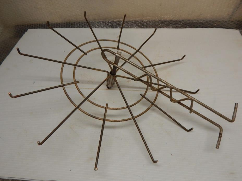 VINTAGE STORE DISPLAY WIRE RACK ROTATING , CLOTHING, HARDWARE, AUTO PARTS, ETC.