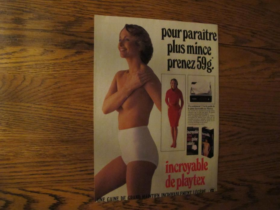 PLAYTEX LINGERIE PRINT AD,CLIPPING 1984